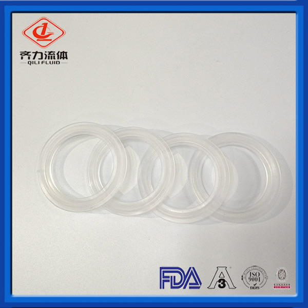 FDA Approved gasket Platinum Silicone Clear Tri Clamp