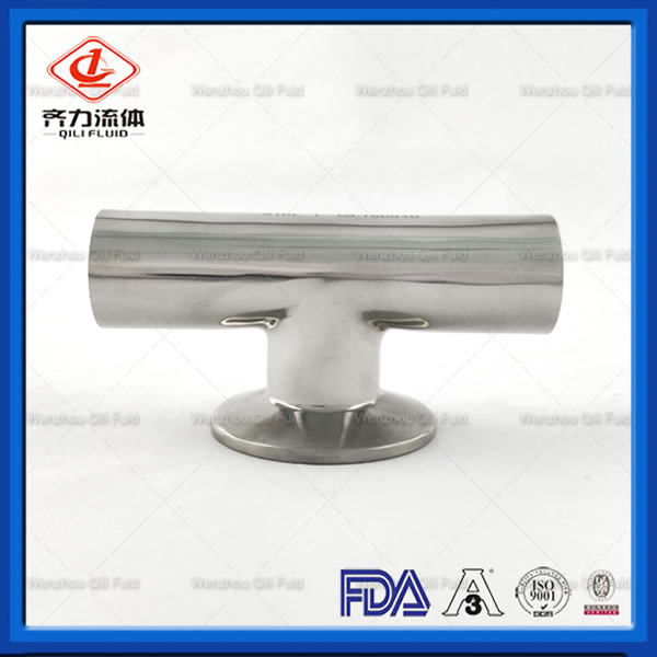 Sanitary Stainless Steel 304 316L Polished Welded Clamped Branch Tee