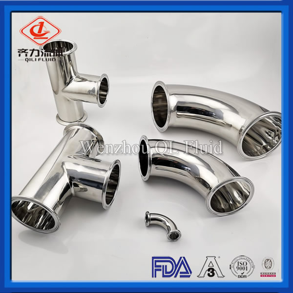 Sanitary Stainless Steel Pipe Fittings Elbow, Tee, Reducer with Electricity Polishing