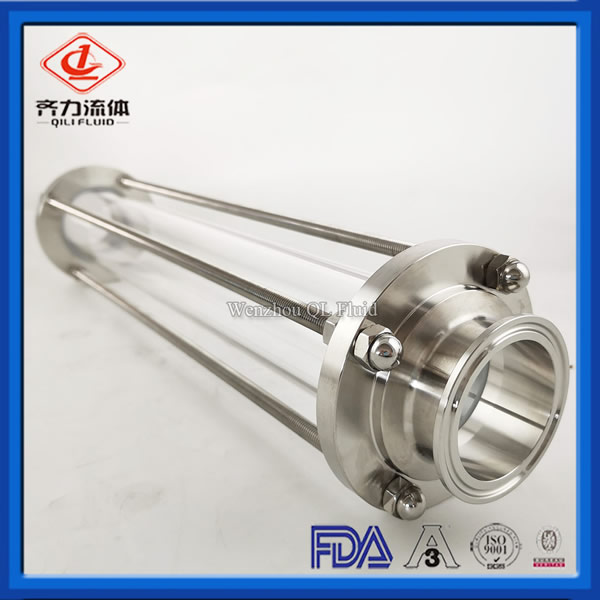 food grade water gauge sight glass, Tri clamp or weld ends sight galss, Tank accessories Liquid level gauge