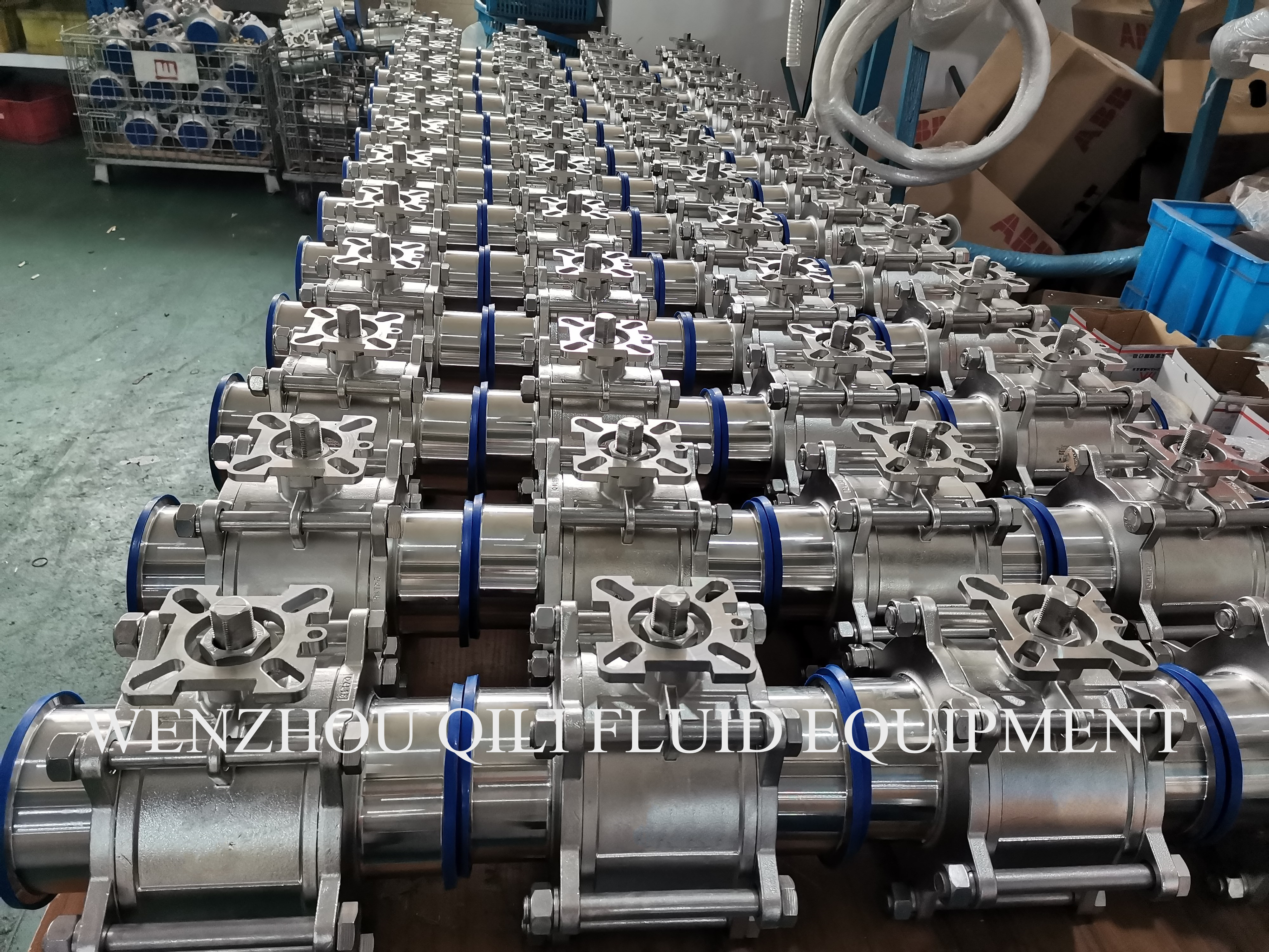 316L Stainless Steel  High Platform 3 Pcs Type Ball Valve 4 inch 6 inch