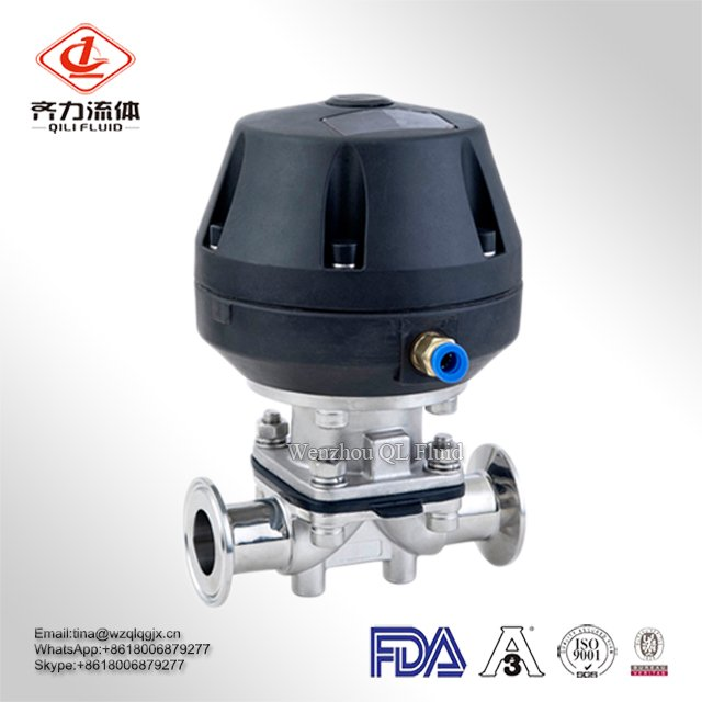 High Quality Hygiene Degree Ss Manual Diaphragm Valve Made in China