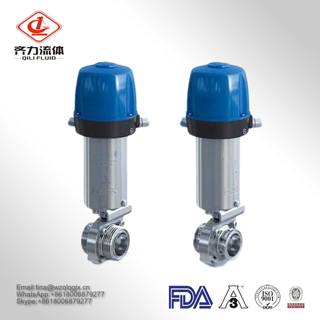 Stainless Steel Food Grade Sanitary Pneumatic Butterfly Valve