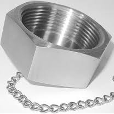 Sanitary Stainless Steel RJT Blank Nut With Chain