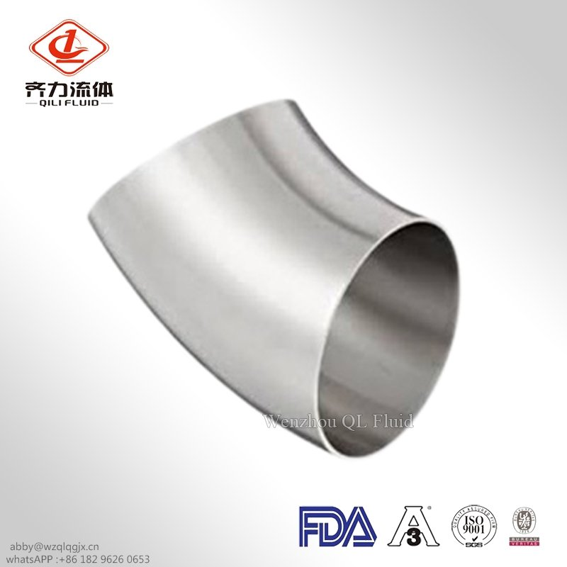Sanitary Stainless Steel Weld 45 Degree Bend