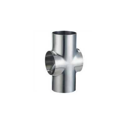 Sanitary Stainless Steel Polished Short Weld Cross
