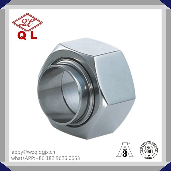 Sanitary Stainless Steel Bevel Seat Fitting Hex Union Nut