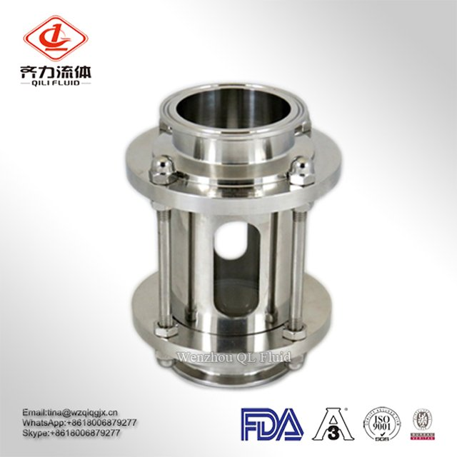 Stainless Steel 304/ 316L Sanitary Tubular/ Inline Sight Glass with Glass