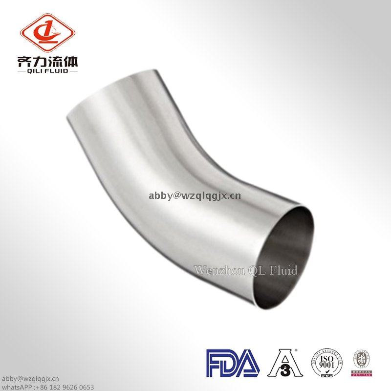 Sanitary Stainless Steel Weld 45 Degree Elbow