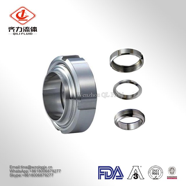 Dn32 Dn40 Dn50 Dn 80 Dn100 Stainless Steel Pipe Fitting Quick Clamped Coupling Sanitary Milk Union
