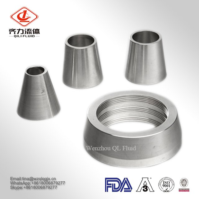 304 / 316 Sanitary 304L / 316L Concentric / Eccentric Mirror Polished / Polishing Welded Pipe Fitting Stainless Steel Reducer