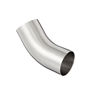 Sanitary Stainless Steel Polished 45° Weld Elbow with Tangent B2KS