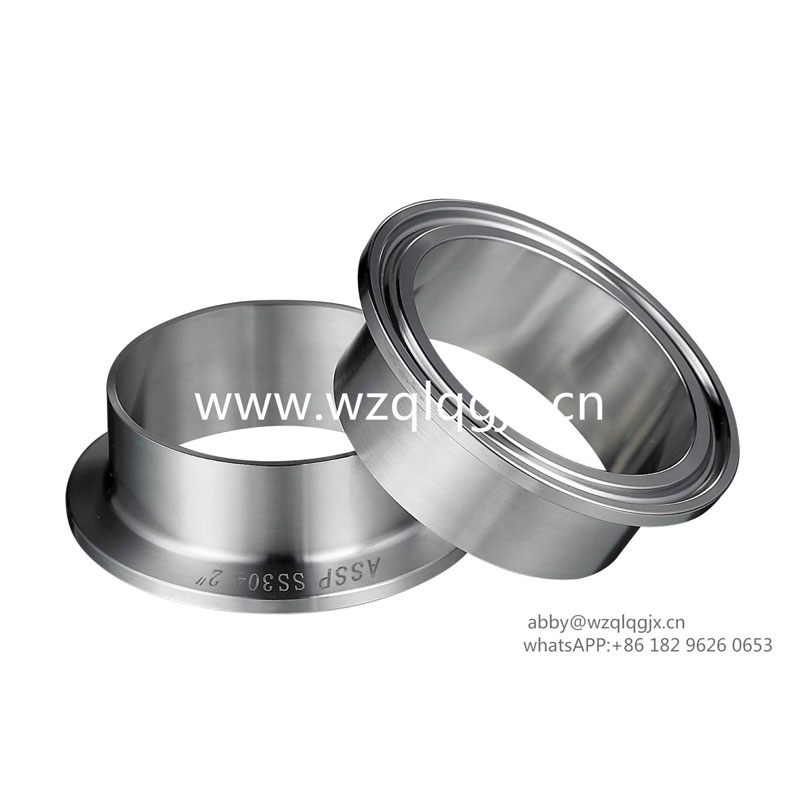Sanitary Connector Stainless Steel Clamped Ferrule
